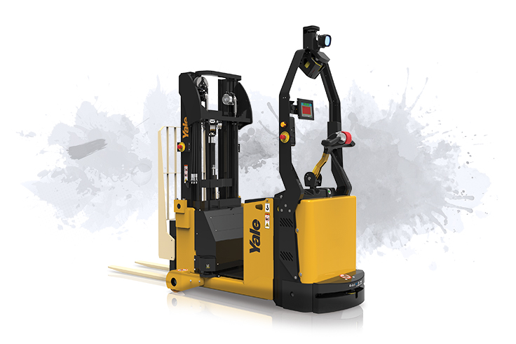 Versatile pedestrian controlled counterbalanced stacker.
