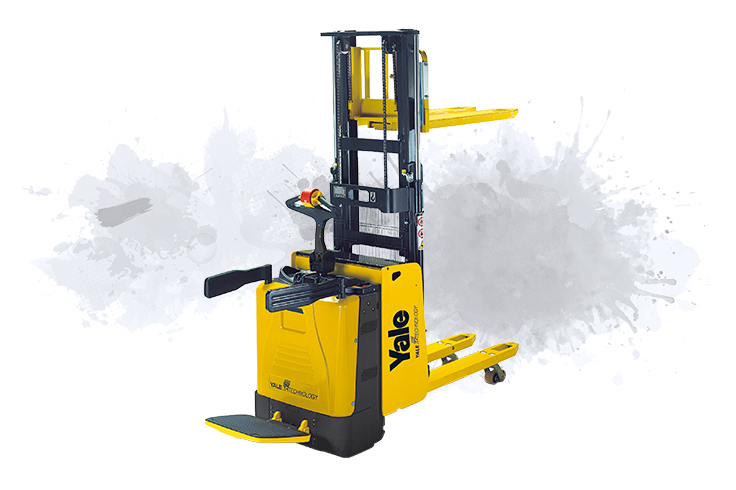 Highly productive platform pallet truck with stacking capability