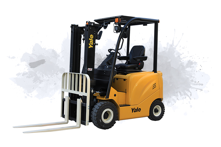 4 Wheel Electric Forklift Truck Pneumatic Tyre