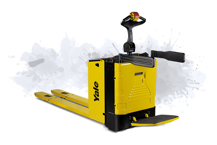 Highly productive platform pallet truck